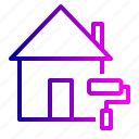 building, colour, home, job, painting, property, work icon