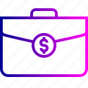 bag, cash, contract, deal, dollar, income, money icon