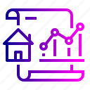 analysis, document, growth, increase, paper, property, rate icon