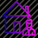 building, estate, home, house, male, rent, seller