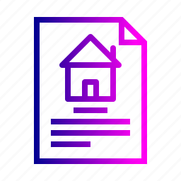 address, deal, document, estate, home, house, property icon