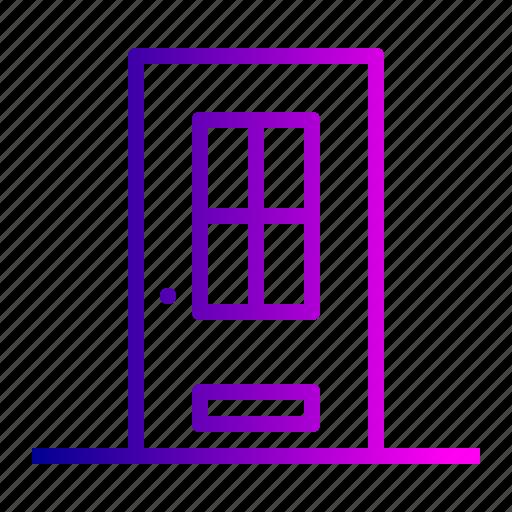delivery, door, enterance, estate, home icon