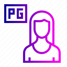 girl, guest, home, house, lady, payingguest, rent icon