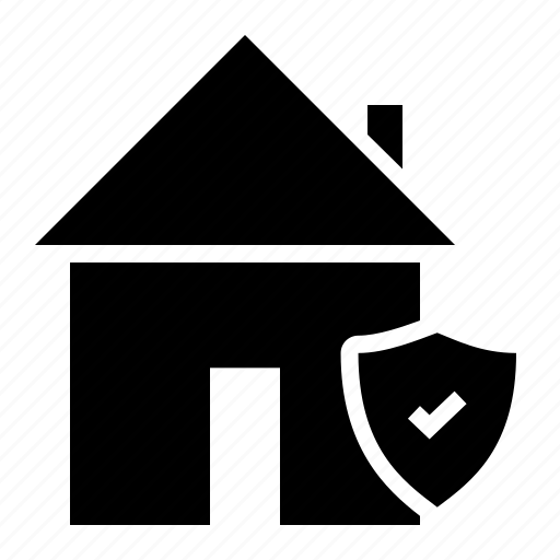 building, estate, guard, house, property, protected, rent icon