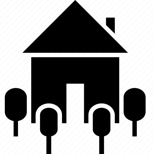 building, estate, gardening, greenery, home, property, rent icon
