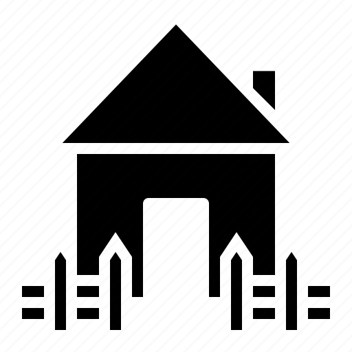estate, fencing, house, property, railing, rent, safe icon