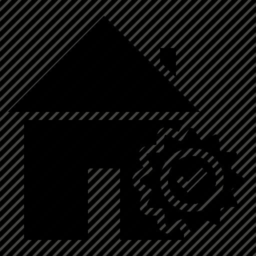 building, estate, home, property, rent, trust, verify icon