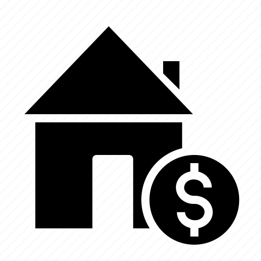 building, deal, dollar, estate, house, property, rent icon