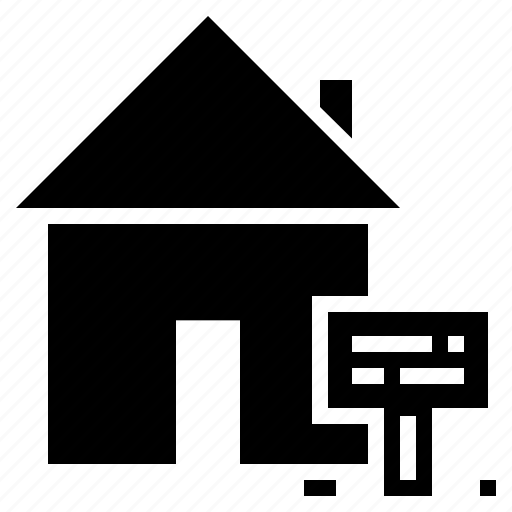 board, building, deal, home, house, notice, property icon