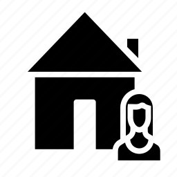 building, buyer, house, male, real, rent, seller icon