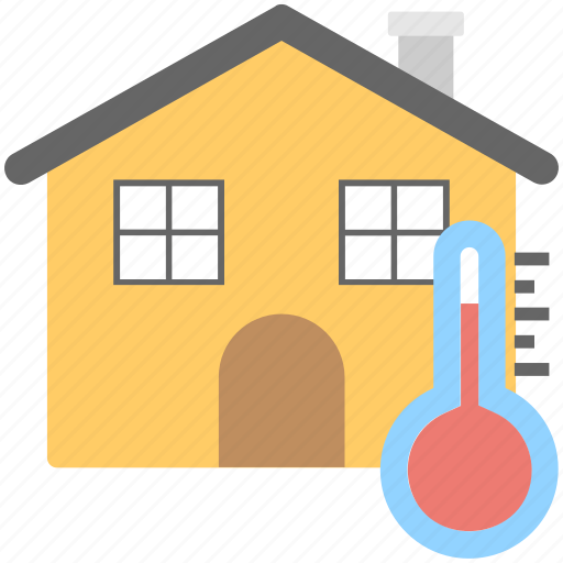 Central air conditioning concept, central heating system, home central cooling, home temperature, house temperature symbol icon - Download on Iconfinder