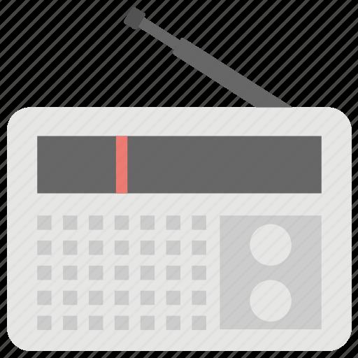 radio, radio set, radio with antenna, technology, transmission icon