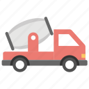 concrete buggy, concrete mixer, concrete truck, construction vehicle icon