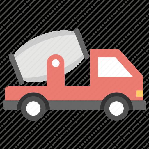 concrete buggy, concrete mixer, concrete truck, construction vehicle icon