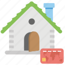 down payment, home payment, mortgage, property card, renting payment icon