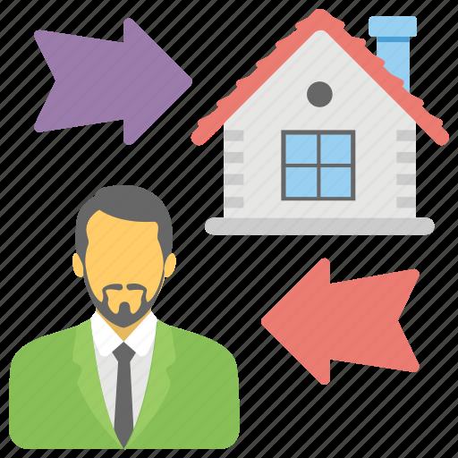 homeowner, property agent, property representative, real estate advisor, real estate agent icon