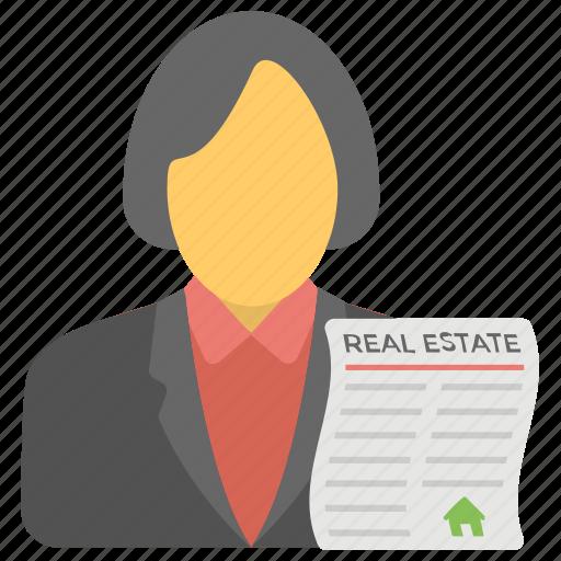 estate agent, homeowner, property agent, property representative, real estate advisor icon