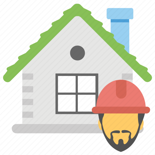 architect, constructor, engineer, home builder, worker icon