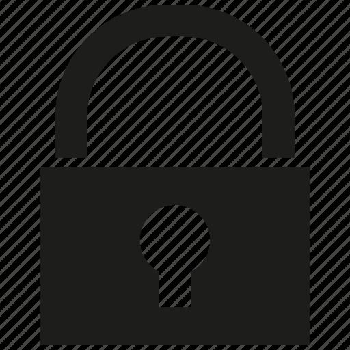key, lock, padlock, secure icon