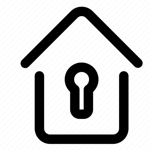 building, estate, home, house, lock, real, security icon