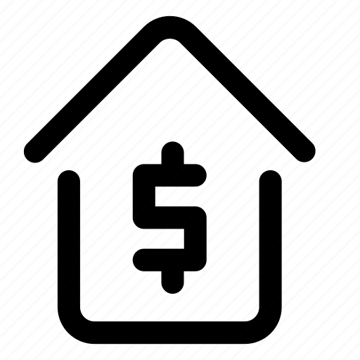 building, currency, dollar, finance, house, property, sale icon