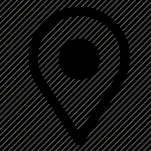 land, map, mark, navigation, pin, pointer icon