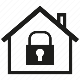 asset, estate, home security, house, key, real estate, secure icon