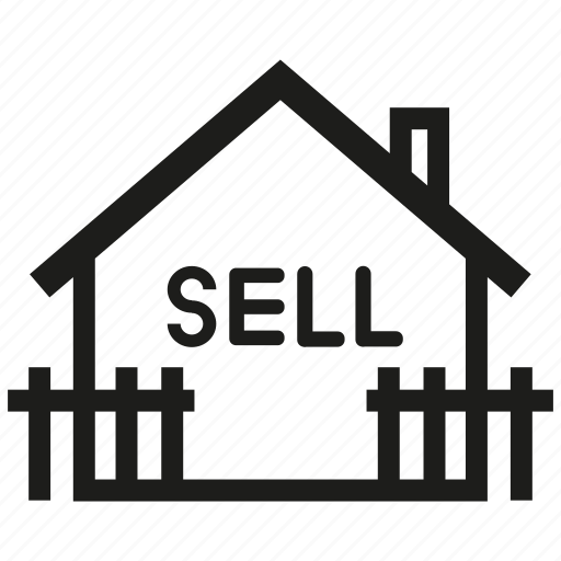 asset, estate, fence, home, home sell, real estate, sell icon
