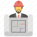 architect designer, architecture, constructor, developer, engineer icon