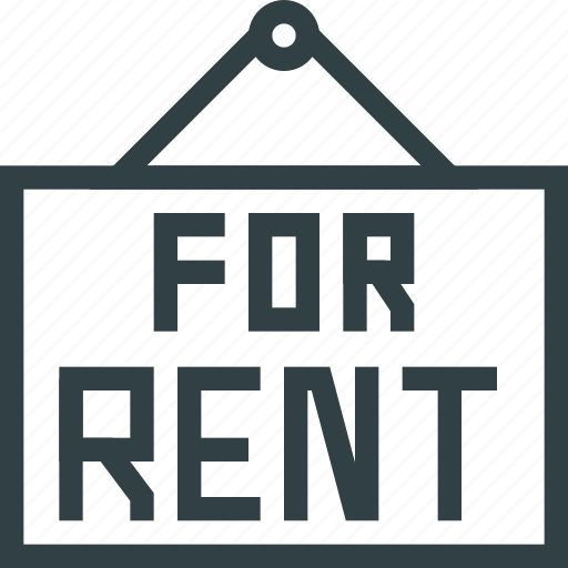 plate, rent icon