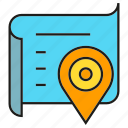 location, map, paper, pin, tracking icon