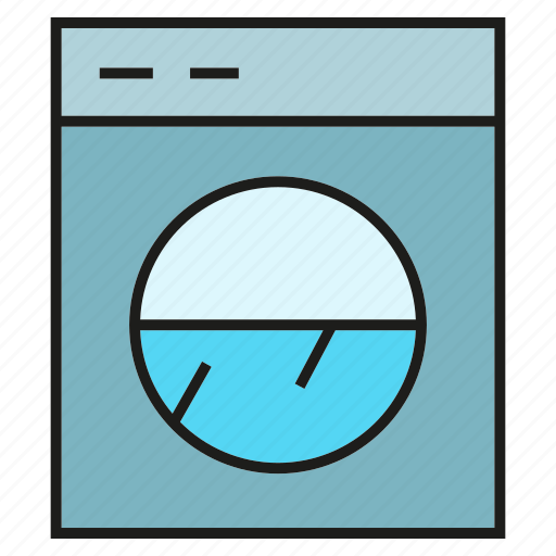 electronic, home appliance, washer, washing machine icon