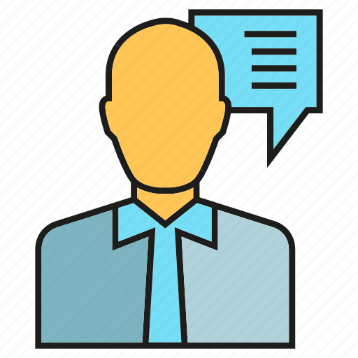 business man, chat, consultant, people, speech bubble icon