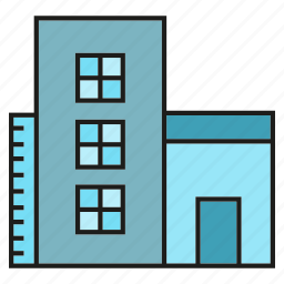 accommodation, apartment, building, hostel, residence, tower icon