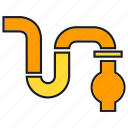pipe, pipeline, plumbing icon