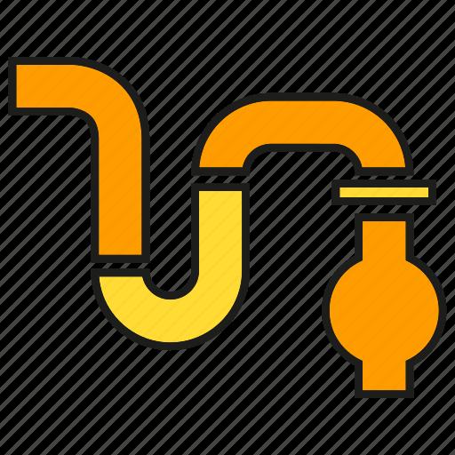 pipe, pipeline, plumbing icon