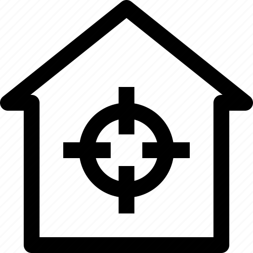 apartment, building, home, house, property, real estate, target icon