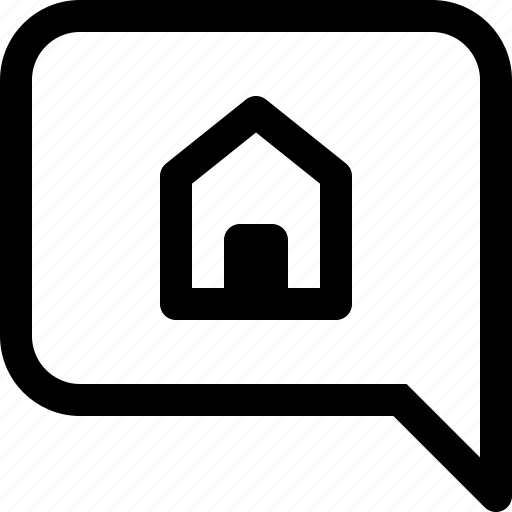 apartment, bubble, building, estate, home, property, real, real estate, speech icon