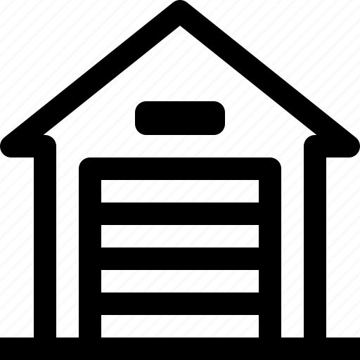 apartment, building, garage, home, property, real estate icon