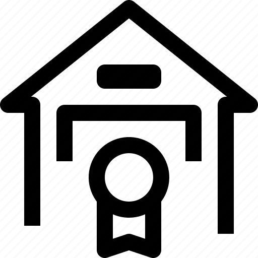 apartment, building, certificate, home, house, property, real estate icon