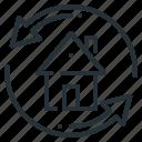 arrows, estate, exchange, home, house
