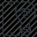 bulb, light, smart, smart light, smart light bulb icon
