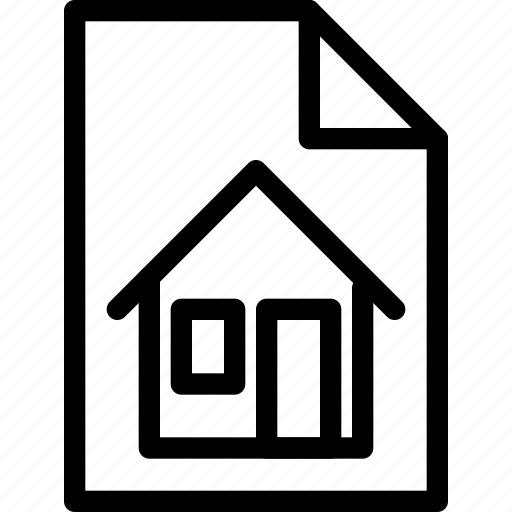 building, contract, estate, home, house, property, real, rent icon