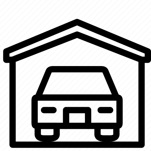 car, estate, home, house, property, real, rent icon