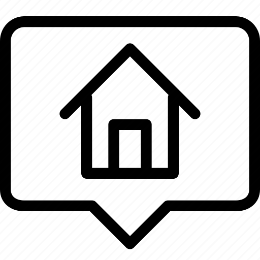 building, chat, estate, home, house, property, real, rent icon