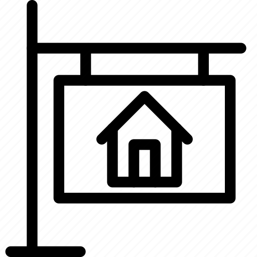 add, bilboard, building, construction, home, house, property, real estate, rent icon