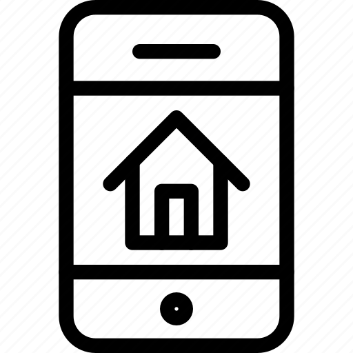 estate, house, mobile, phone, property, real, rent, smartphone icon