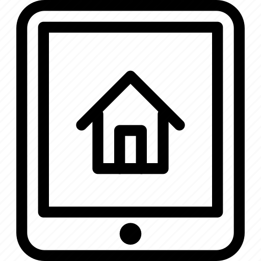 building, estate, home, house, property, real, rent, tablet icon