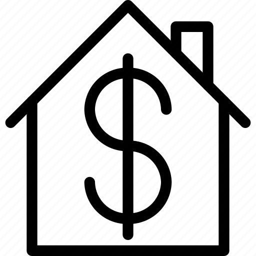 building, dollar, estate, home, house, property, real, rent icon