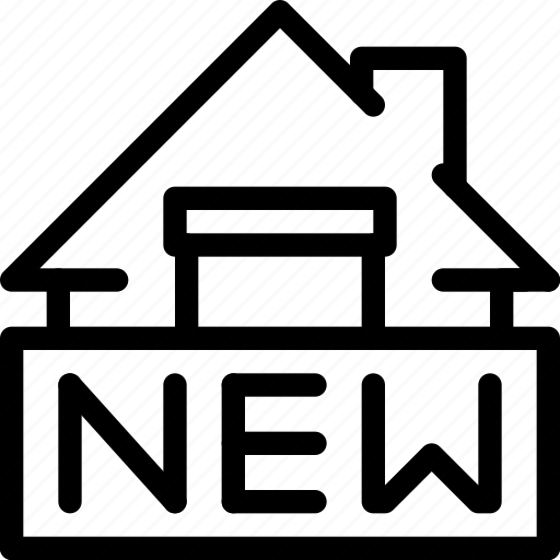 building, estate, home, house, new, property, real, rent icon